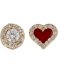 Alison Lou - Diamond, Enamel & Yellow-gold Earrings - Lyst