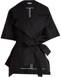 Palmer//Harding - Tie-waist Wool Poncho Jacket - Lyst