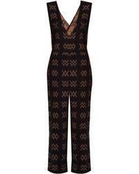 Ace & Jig - Hot Cross Plunging Cotton Jumpsuit - Lyst