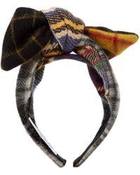 Benoit Missolin - Camila Tartan-bow Wool Headband - Lyst