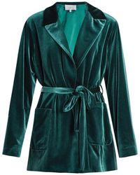 Luisa Beccaria - Tie-waist Velvet Jacket - Lyst
