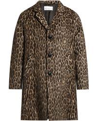Raey | Raglan-sleeved Leopard-print Coat | Lyst