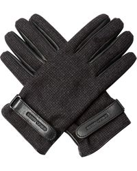 Giorgio Armani - Wool And Leather Gloves - Lyst