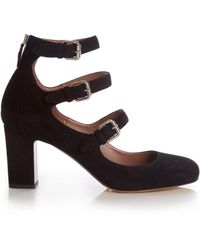 Tabitha Simmons - Ginger Block-heel Suede Court Shoes - Lyst