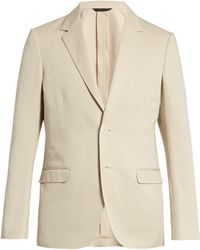 CALVIN KLEIN 205W39NYC - Single-breasted Cotton And Linen-blend Blazer - Lyst