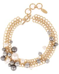 Lanvin - Faux-pearl Chain Necklace - Lyst