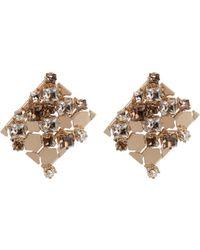 Lanvin - Chain Lumiere Crystal Earrings - Lyst