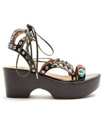Toga - Polido Lace-up Wedge Sandals - Lyst