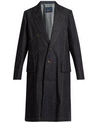 Yohji Yamamoto Regulation - Single-breasted Denim Coat - Lyst