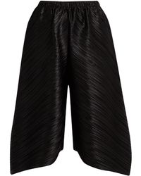 Pleats Please Issey Miyake - Triangle-cut Wide-leg Trousers - Lyst