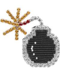 Shourouk - Emojibling Bomb Brooch - Lyst