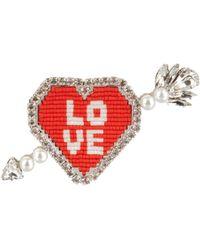Shourouk - Emojibling Heart Love Brooch - Lyst
