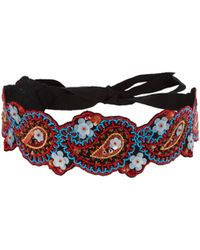 Andrew Gn - Floral-embroidered Belt - Lyst