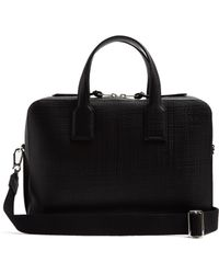 Loewe - Goya Textured-leather Briefcase - Lyst