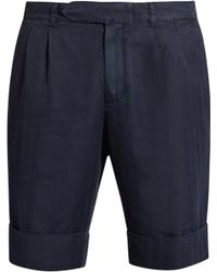 Boglioli - Tailored Cotton-blend Herringbone Shorts - Lyst