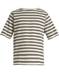 Acne Studios - Nimes Striped Cotton T-shirt - Lyst