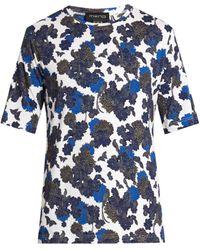 Meng - Floral-print Silk-jersey Pyjama Top - Lyst