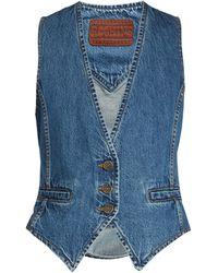 Rockins | Slim-fit Denim Waistcoat | Lyst