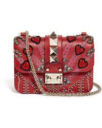 Valentino Lock Love Blade Leather Cross-body Bag