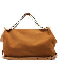 Loewe - Cushion Suede Travel Bag - Lyst