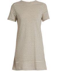 A.P.C. - Mauricia Striped Cotton-blend Jersey Dress - Lyst