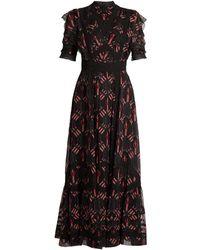 Valentino - Love Blade-print Silk-chiffon Gown - Lyst