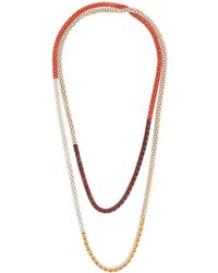 Lucy Folk - Naturalist Gold-plated And Steel Necklace - Lyst