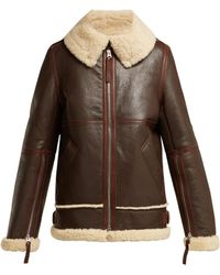 Acne Studios - Aviator Shearling Jacket - Lyst