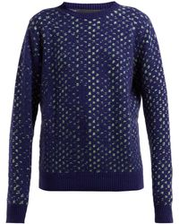 The Elder Statesman Leo Spot Jacquard Cashmere Sweater
