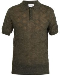 Brioni | Point-collar Wool-blend Knit Polo Shirt | Lyst