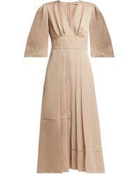 Fendi - Embroidered Silk Dress - Lyst