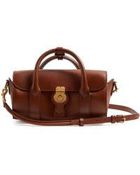 Burberry - Trench Small Textured-leather Barrel Bag - Lyst