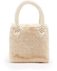 Shrimps - - Una Faux Fur Bag - Womens - White - Lyst