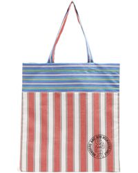 Stella McCartney - Members-print Striped Cotton-canvas Tote - Lyst