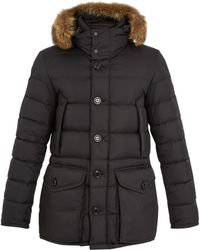 Moncler - Cluny Fur-trimmed Down Coat - Lyst