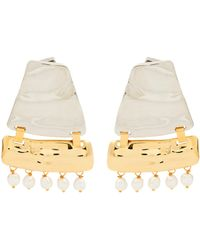 Loewe - Faux-pearl Embellished Earrings - Lyst