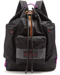 AMI - Porter Contrast-trim Canvas Backpack - Lyst
