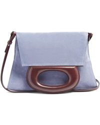 Lemaire - Suede Clutch Bag - Lyst
