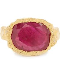 Jade Jagger - Ruby & Sterling-silver Ring - Lyst