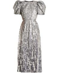 Carolina Herrera - Open Back Sequined Tulle Gown - Lyst