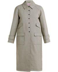 ALEXACHUNG - Houndstooth Wool Blend Coat - Lyst