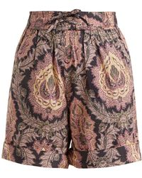 Isabel Marant   Ibo Floral-print Cotton Shorts   Lyst