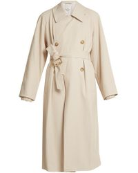 Tibi - Belted Double-breasted Trench Coat - Lyst