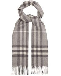 Burberry - Giant Cashmere Check Cashmere Scarf - Lyst