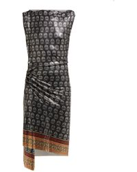 Paco Rabanne - Printed Mini Mesh Dress - Lyst