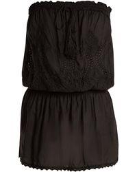 Melissa Odabash - Fruley Embroidered Strapless Dress - Lyst