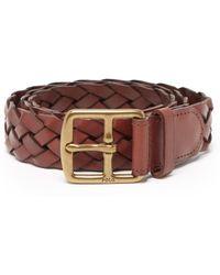 Polo Ralph Lauren - Elvtd Braided Leather Belt - Lyst