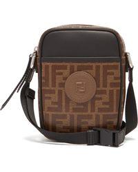Fendi - Double F Leather Cross Body Bag - Lyst