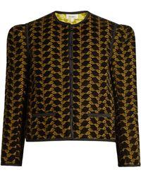 Isa Arfen   Embroidered Velvet Jacket   Lyst