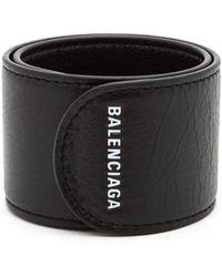 Balenciaga - Cycle Logo Print Snap Bracelet - Lyst